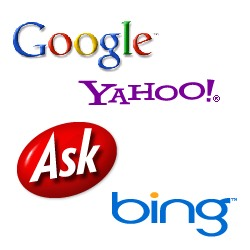 Montage of Search Engine Logos