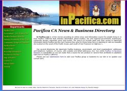 pacifica business directory website design graphic